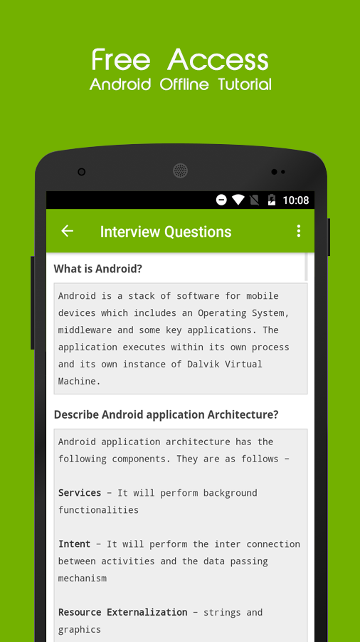 Learn Android Offline Tutorial- screenshot