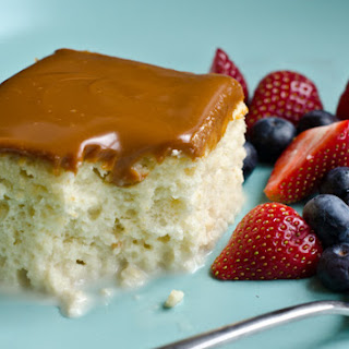 Tres Leches Cake with Dulce De Leche Glaze Recipe
