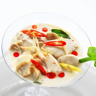 Aromatic Chicken and Coconut Milk Soup.