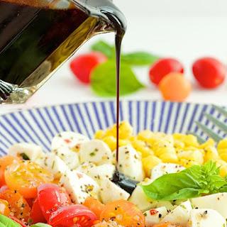 Caprese Salad with Fresh Corn