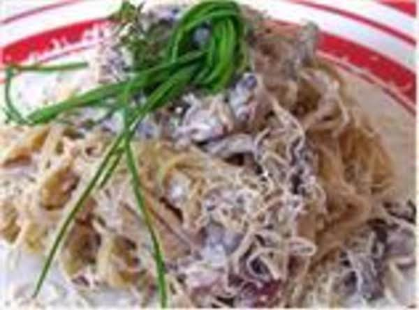 Angel Hair Pasta Wcreamy Mushroom Sauce Recipe Just A Pinch