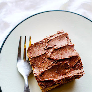 Easy Vegan White Cake with Chocolate Coconut Frosting {Gluten Free, Paleo Friendly}.