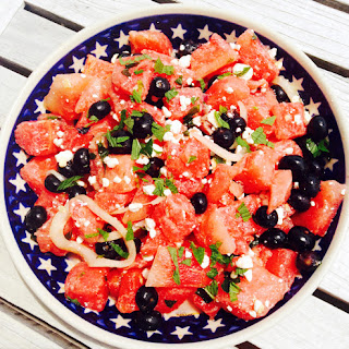 Patriotic Watermelon, Feta and Blueberry Summer Salad Recipe