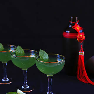Green Tea Martini for Chinese New Year.