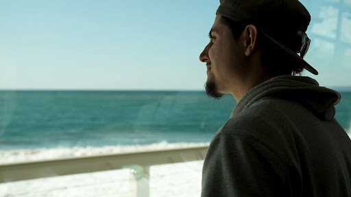 Daniel DeLeon at the Monterey Bay Aquarium Research Institute looking out at the ocean