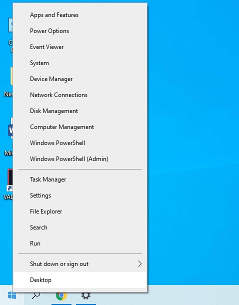 To open the Windows Settings window, right-click on the Windows Start button and select Settings.