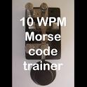10 WPM Amateur ham radio CW Morse code trainer icon
