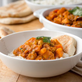 Vegetable Curry with Chickpeas and Sweet Potatoes.
