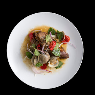 Braised Lamb Shoulder with Clams, Pickled Peppers & Mint