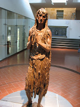 """Photo: including Donatello's Mary Magdalene in the """"more difficult"""" medium of wood."""