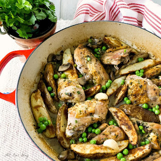 Chicken Vesuvio with Mushrooms.