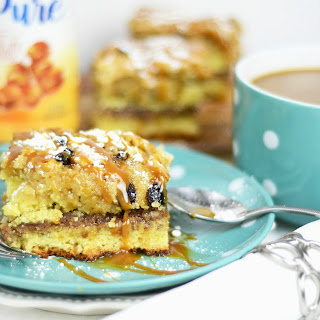 Cinnamon Swirl Coffee Cake with Salted Caramel