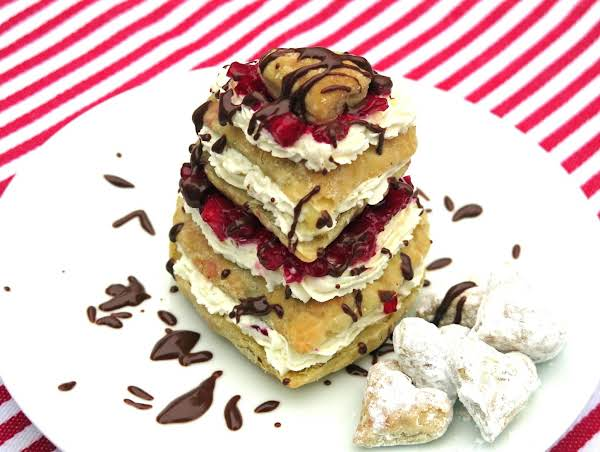 Be My Valentine Napoleons - Beautiful, Decadent, Fun-to-make And Not Too Sweet!