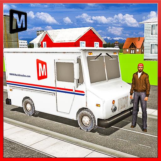 模拟のメール配送transportトラック LOGO-記事Game