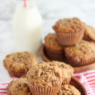 Whole Grain Peanut Butter Banana Muffins
