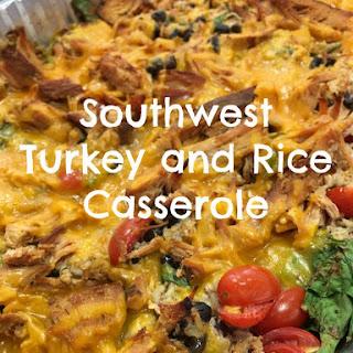 Southwest Turkey and Rice Casserole.