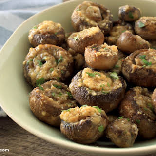 Roasted Parmesan Mushrooms.