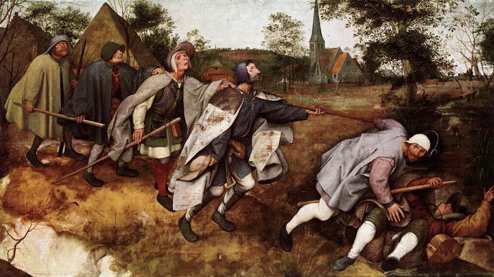 Blindensturz, Gemälde von Pieter Bruegel der Ältere 1526/1530-1569