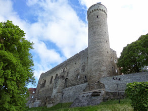 Photo: Tallinn's old town is divided into two parts:  the upper town for the nobility and the lower for merchants.  This is the back of Toompea Castle, built by the Danes in the early 13th century.