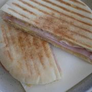 Ham and Cheese Pita Toastie