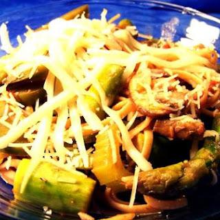 Rustic Asparagus Primavera With Fontina and Parmesan.