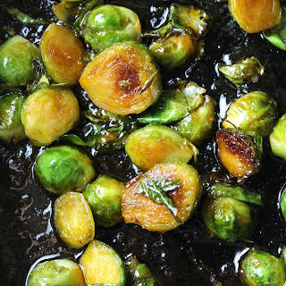 Sweet and Spicy Sriracha Brussels Sprouts.