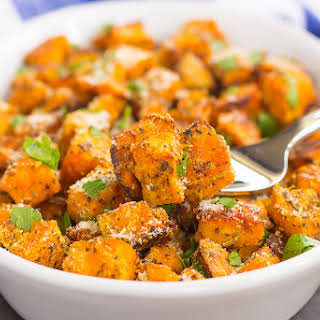 Roasted Parmesan Herb Sweet Potatoes.