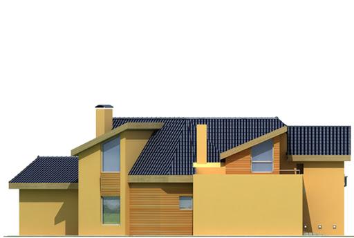 Bursztyn wersja A z pojedynczym garażem - Elewacja lewa