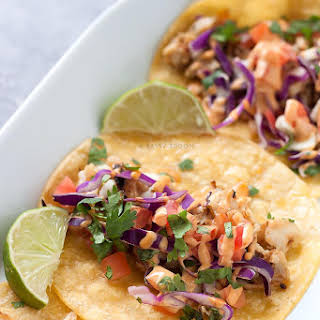 15-Minute Spicy Fish Tacos with Slaw.