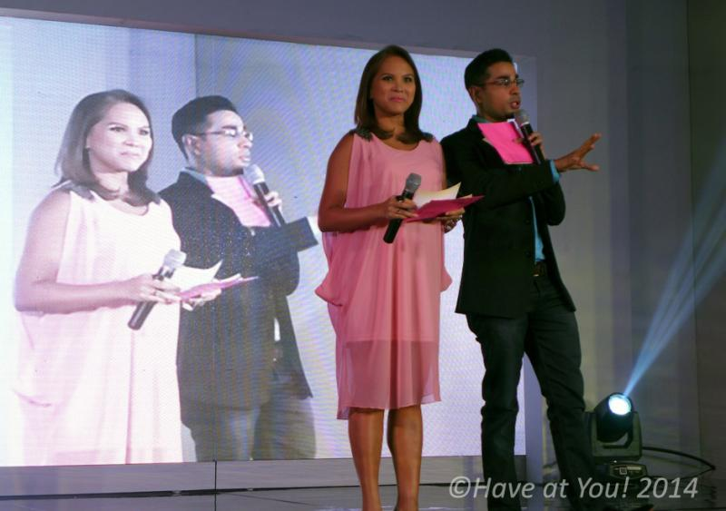 Lactacyd event hosts onstage