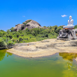 by Madhuka Mihiranga - Landscapes Travel ( sky, pond, green, aerial photography, nature, temples, asia, tourism, nature lake forest, aerial, water, dam water, nature background, summer, beautiful, dam, blue, sri lanka, aerial landscape, reservoir, nature landscape, landscape )