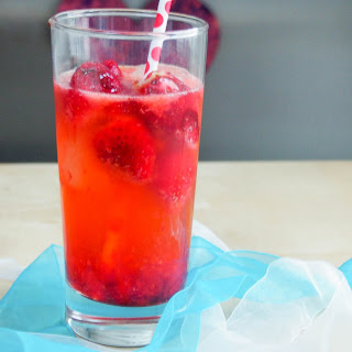 Strawberry Collins With Pomegranate Syrup