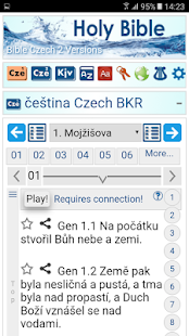 Bible in Czech +English +Spanish Offline - náhled
