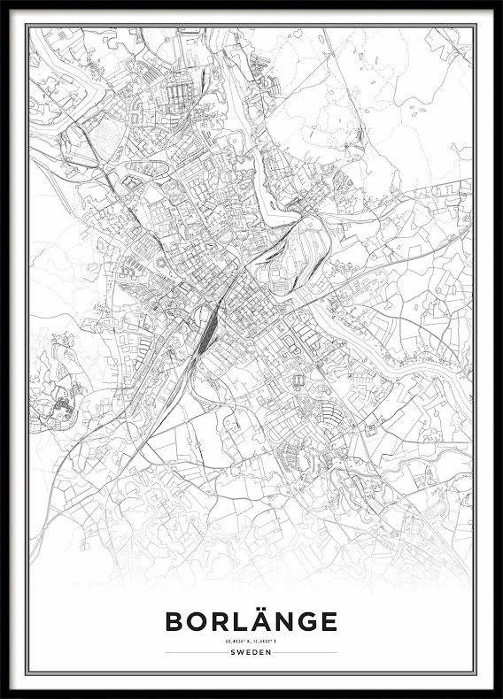Karta Poster, Borlänge