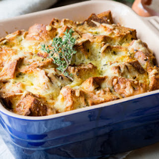 Savory Bread Pudding - Ham and Cheese Classic