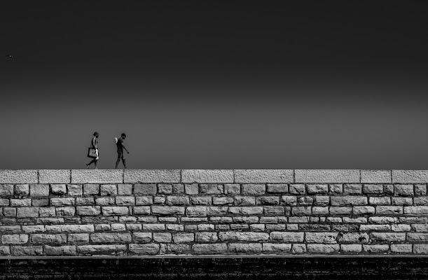 Camminando sui 'murassi'  -Venezia- di aliscaforotto