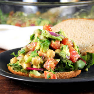 Chickpea Avocado Salad for sandwiches and wraps.