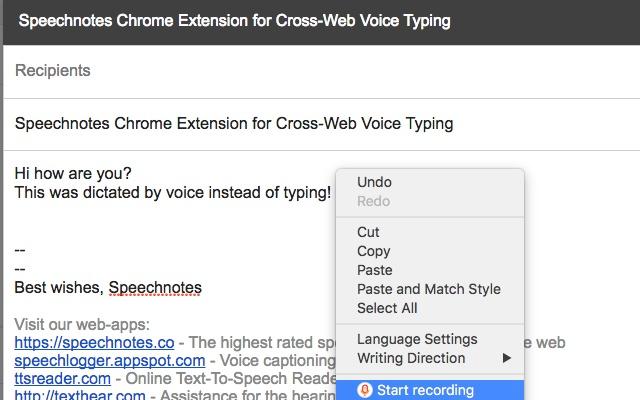 SpeechnotesX Voice-Typing