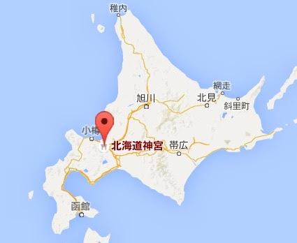 地図:北海道神宮