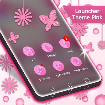 Launcher Theme Pink - screenshot