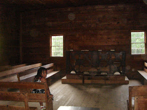 Photo: inside the Primitive Baptist Church