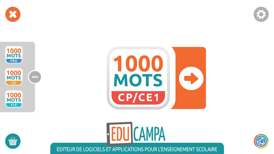 1000 Mots CP-CE1 / Apprendre à lire Android App Screenshot