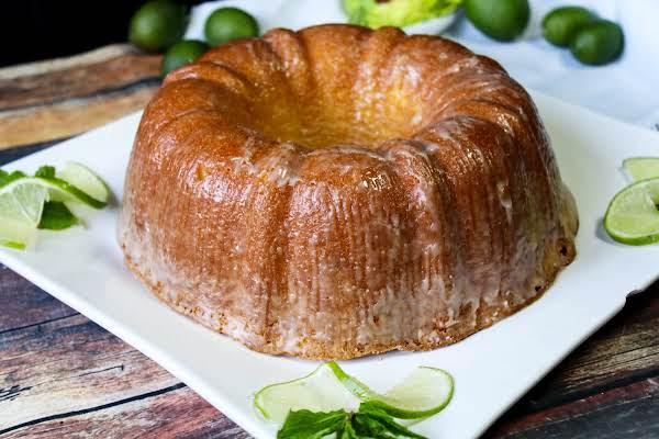 Key Lime Pound Cake With A Glaze.