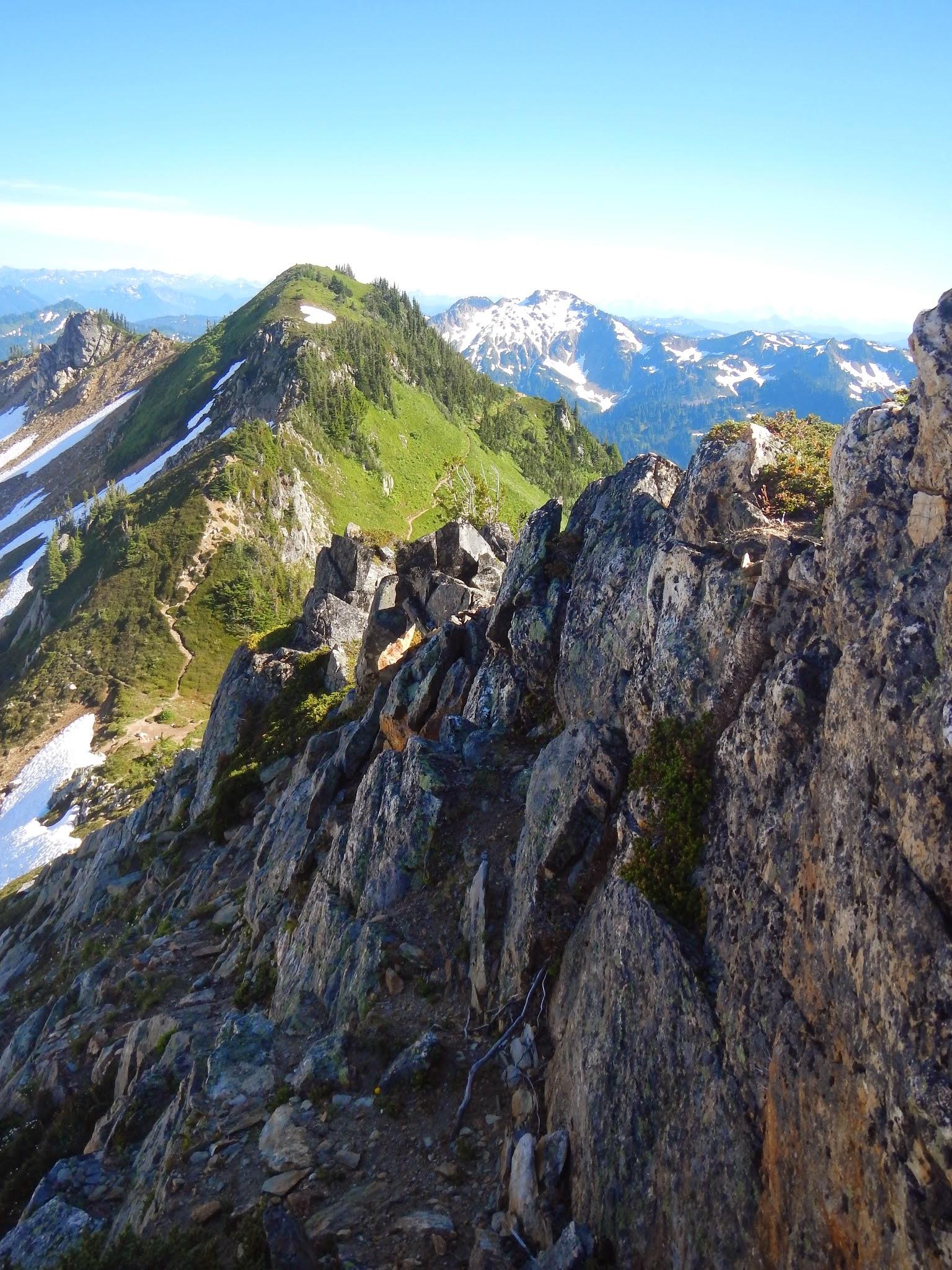 Photo: Rocky ledges lead up to Portal Peak