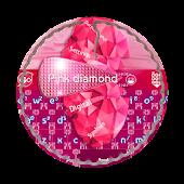 Pink diamond GO Keyboard