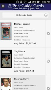 Sports Card Price Guide- screenshot thumbnail