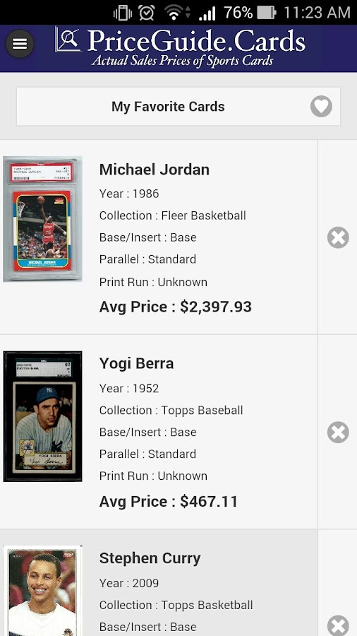 Sports Card Price Guide- screenshot