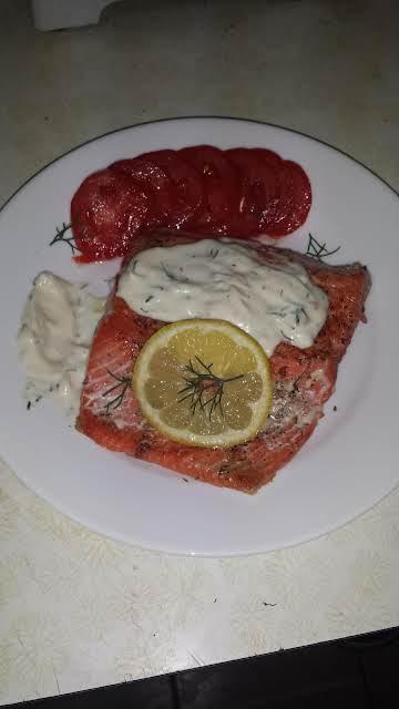 Salmon & Mustard Dill Sauce