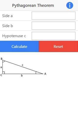Pythagoras Theorem Calculator