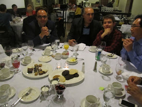 Photo: Day 1 - Lindsay and attendees enjoying dinner